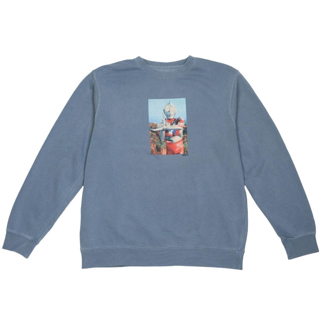 BAIT x Ultraman Men Hero Crewneck Sweater (blue / pigment)