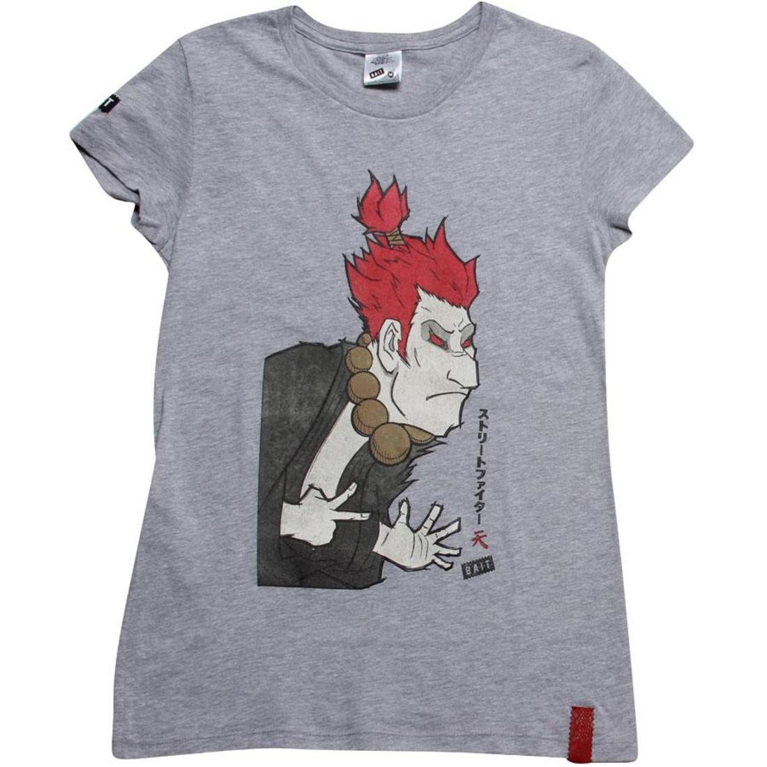 BAIT x Street Fighter Women Artist Series Akuma Tee - Kidokyo (grey heather)