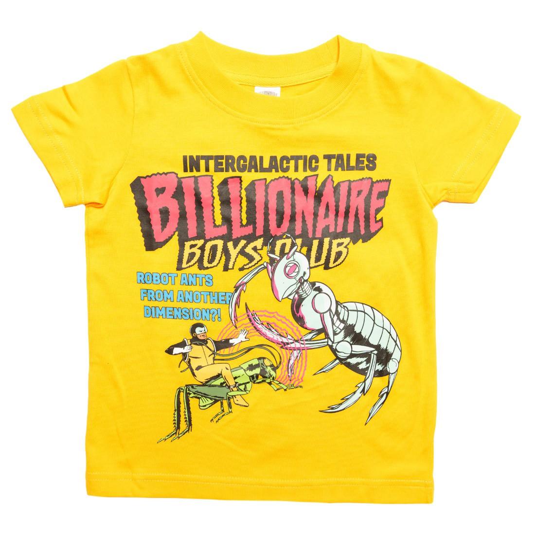 Billionaire Boys Club Little Kids Fly Trap Tee (yellow / citrus)