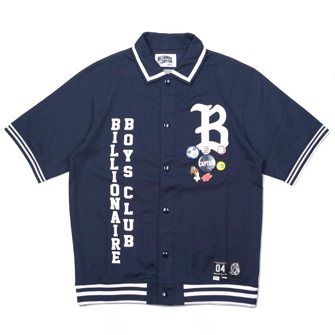Billionaire Boys Club Men Marquee Knit Shirt (navy / peacoat)