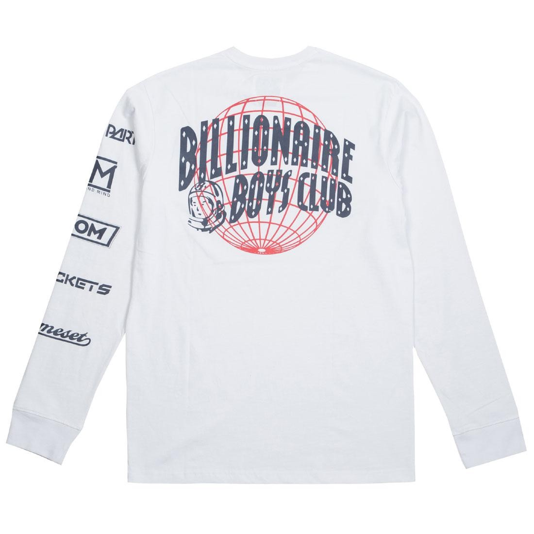 Billionaire Boys Club Men World Tour Long Sleeve Tee (white)