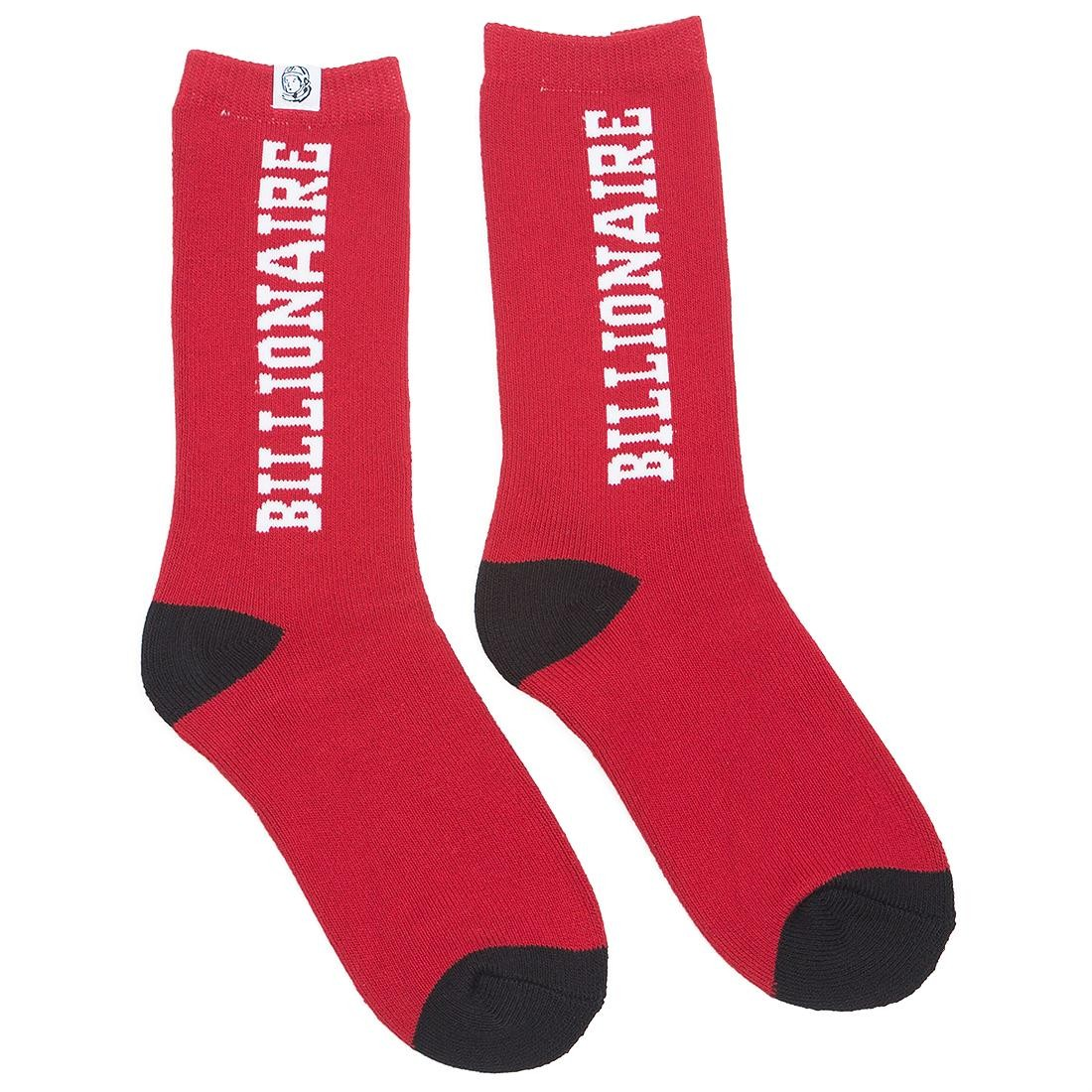 Billionaire Boys Club Men Collegiate Socks (red / tango)