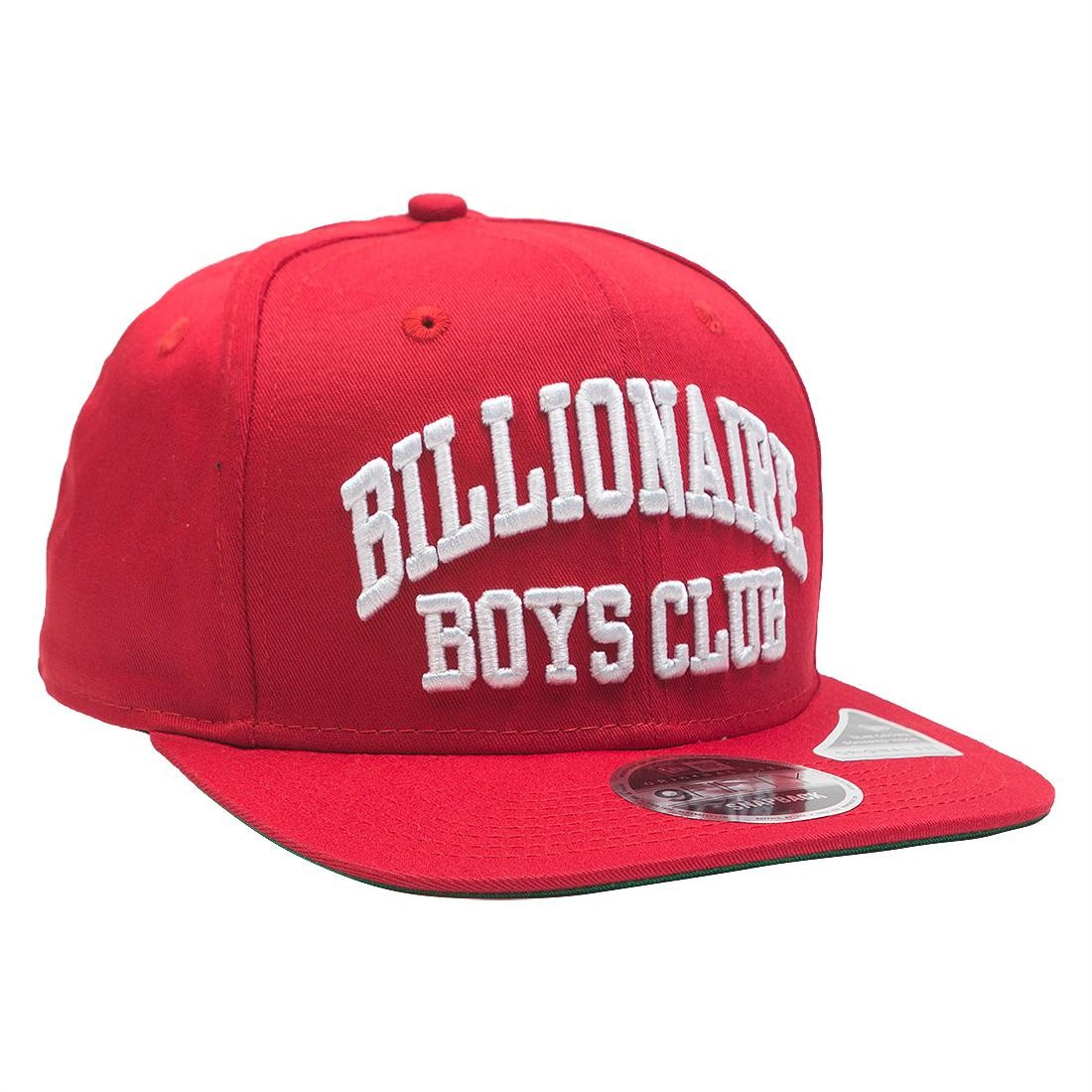 Billionaire Boys Club Bent Snapback Cap (red / scarlet)