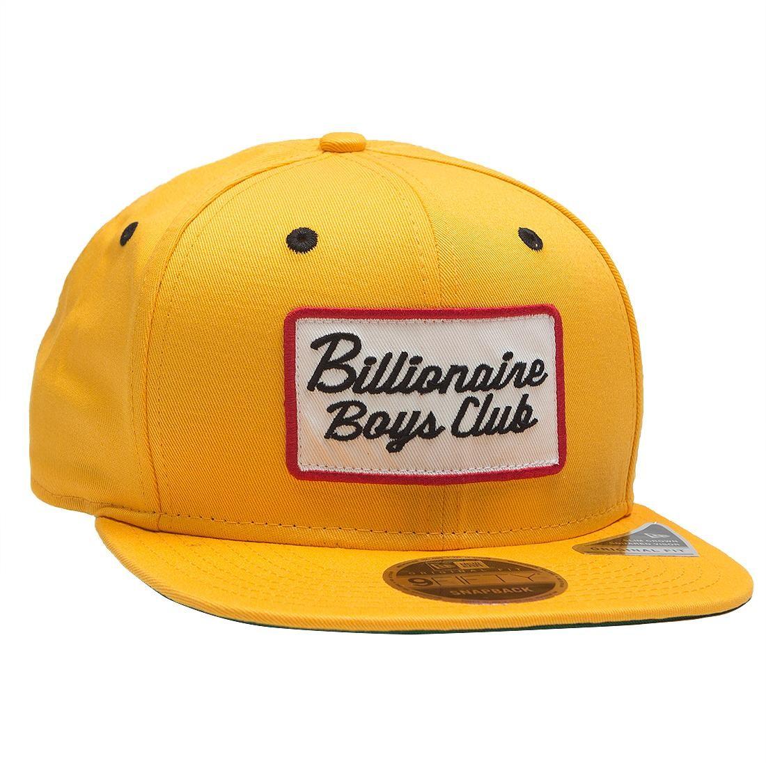 Billionaire Boys Club Patch Snapback Cap (gold)
