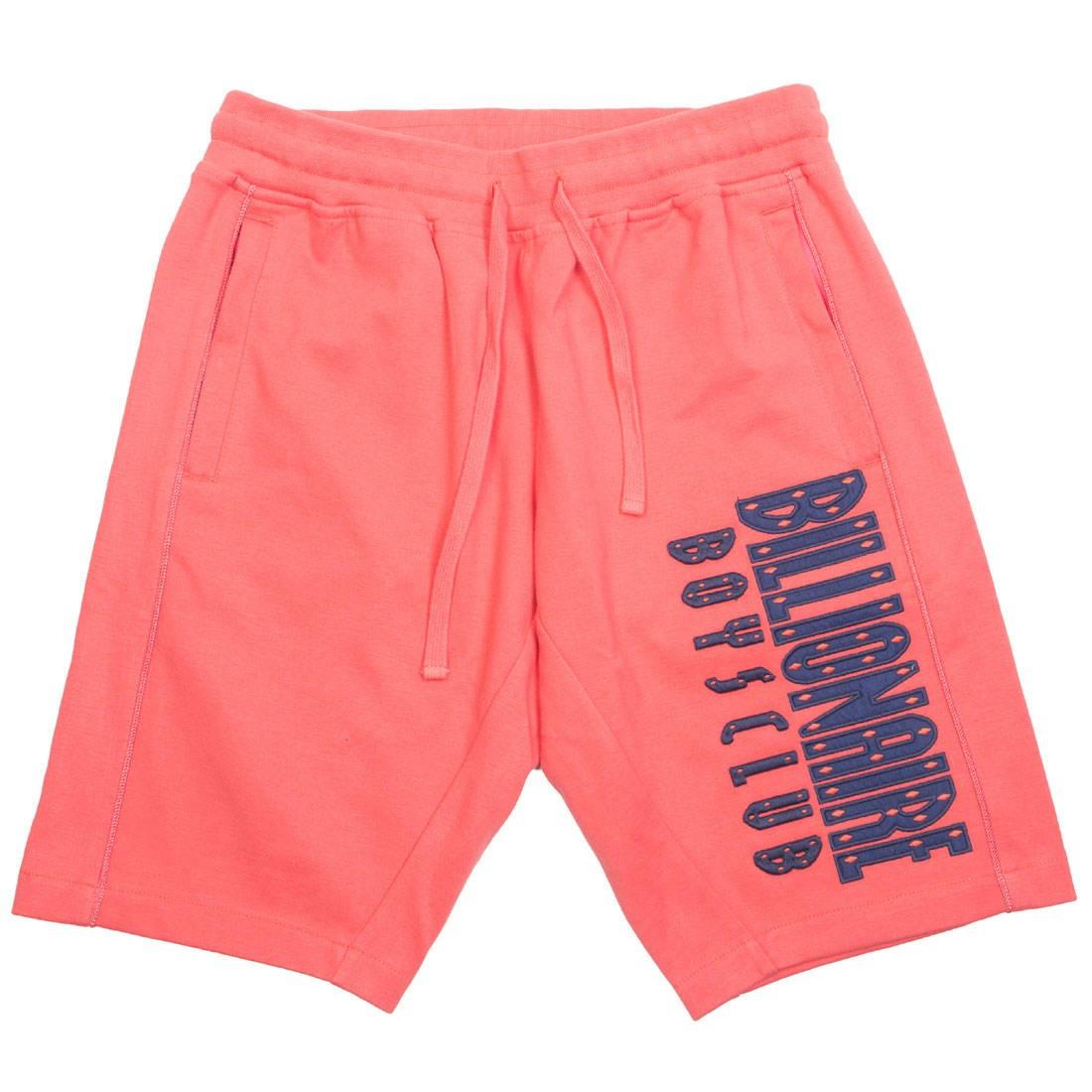 Billionaire Boys Club Men Straight Font Shorts (pink / rose)
