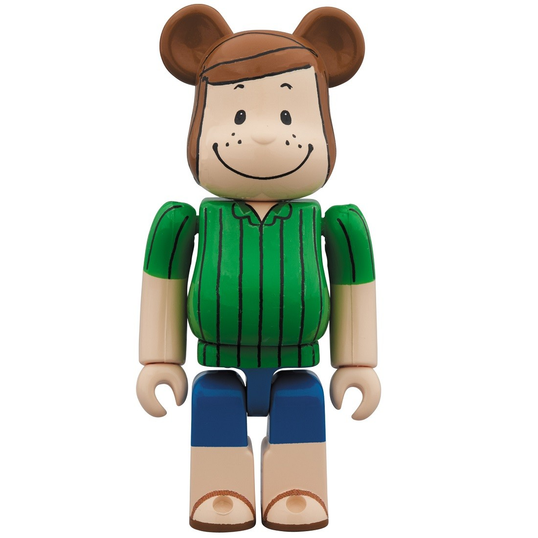 PREORDER - Medicom Peanuts Peppermint Patty 100% Bearbrick Figure (green)