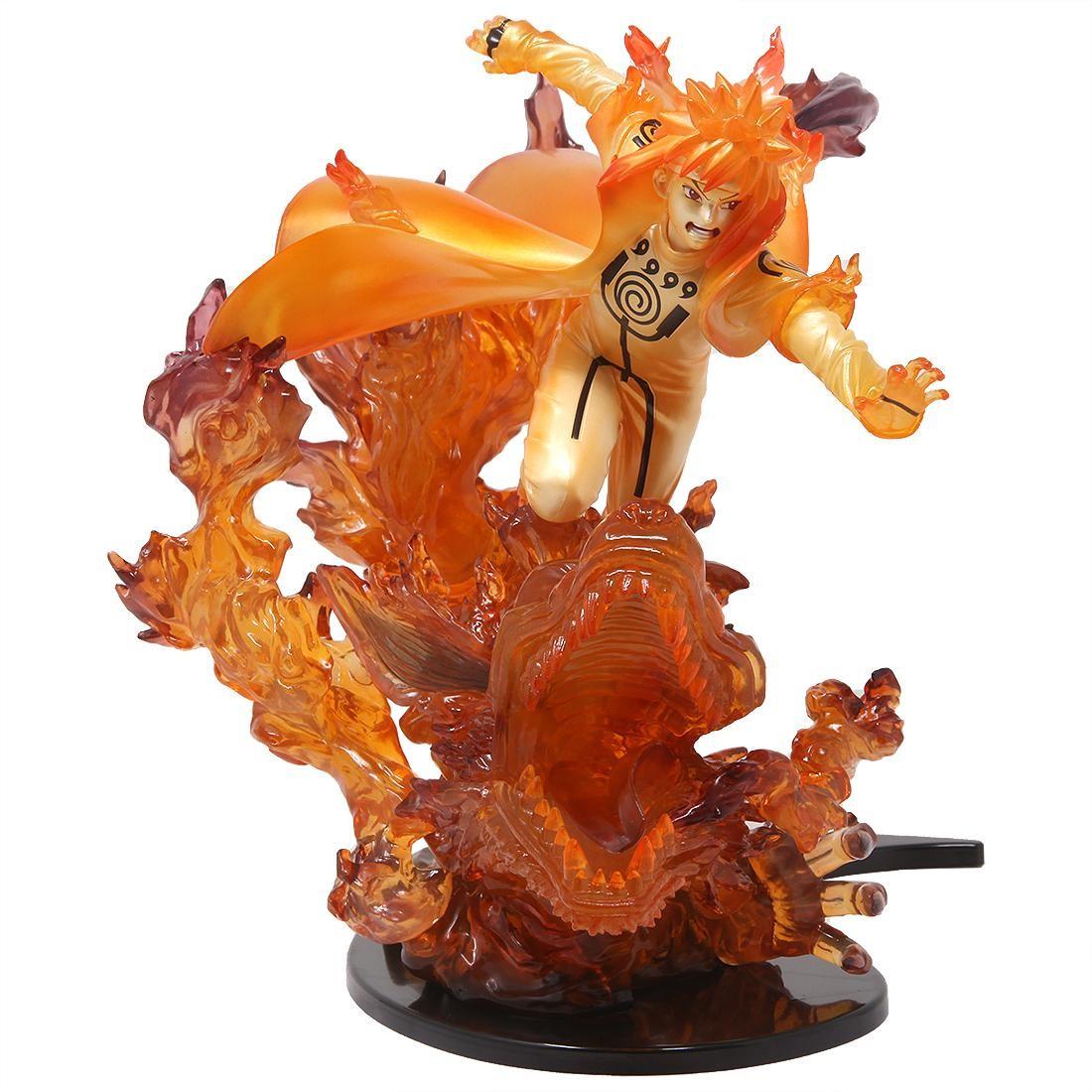 Bandai Figuarts Zero Naruto Shippuden Minato Namikaze Kurama Kizuna Figure (orange)
