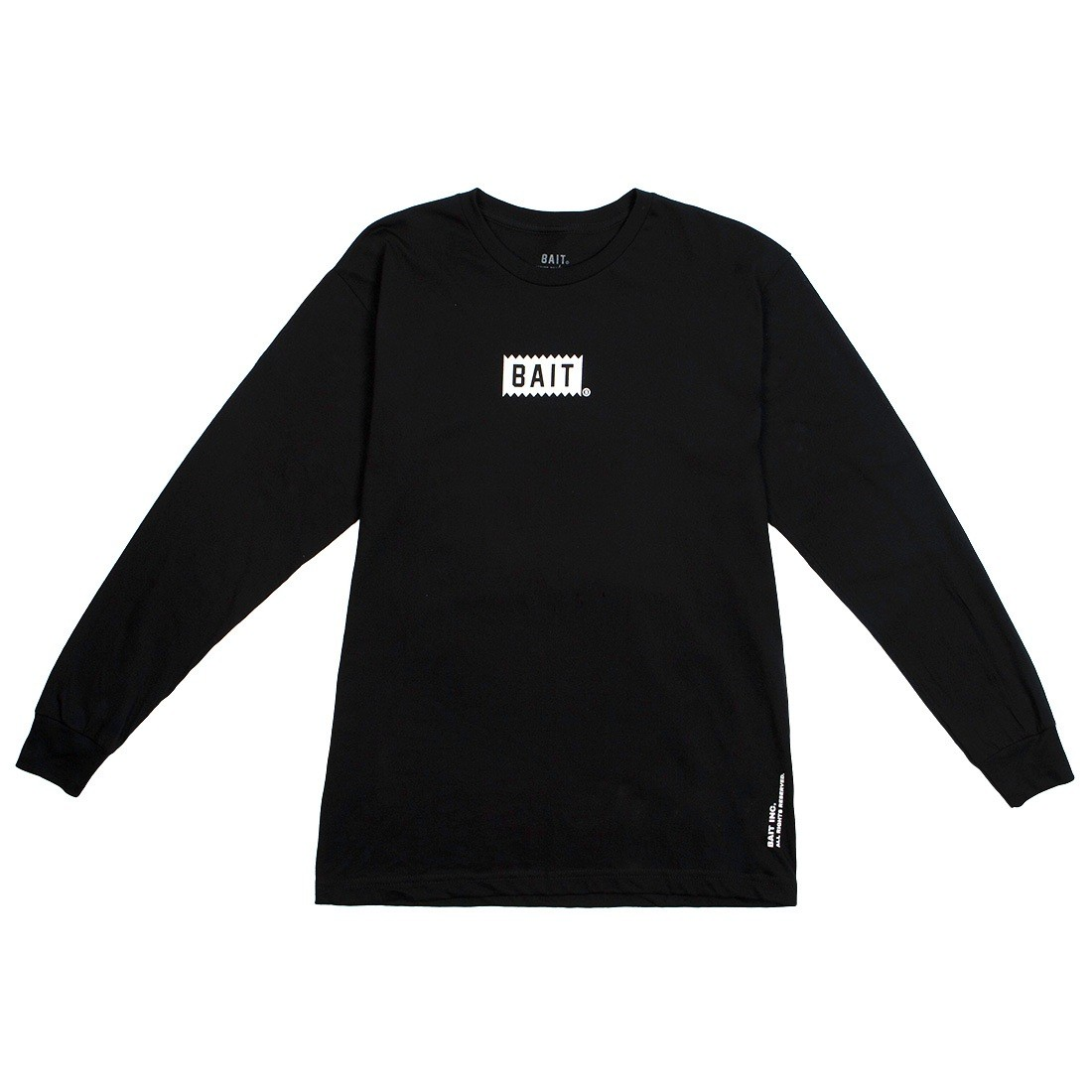BAIT Men Bite Logo Long Sleeve Tee (black)