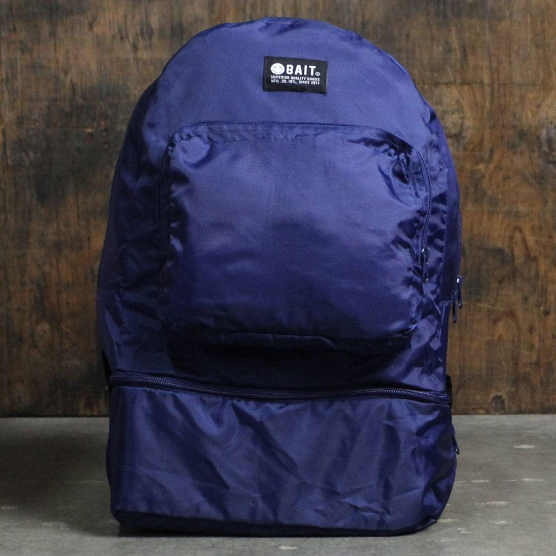 BAIT Lightweight Packable And Detachable Sneaker Nylon Backpack (blue)