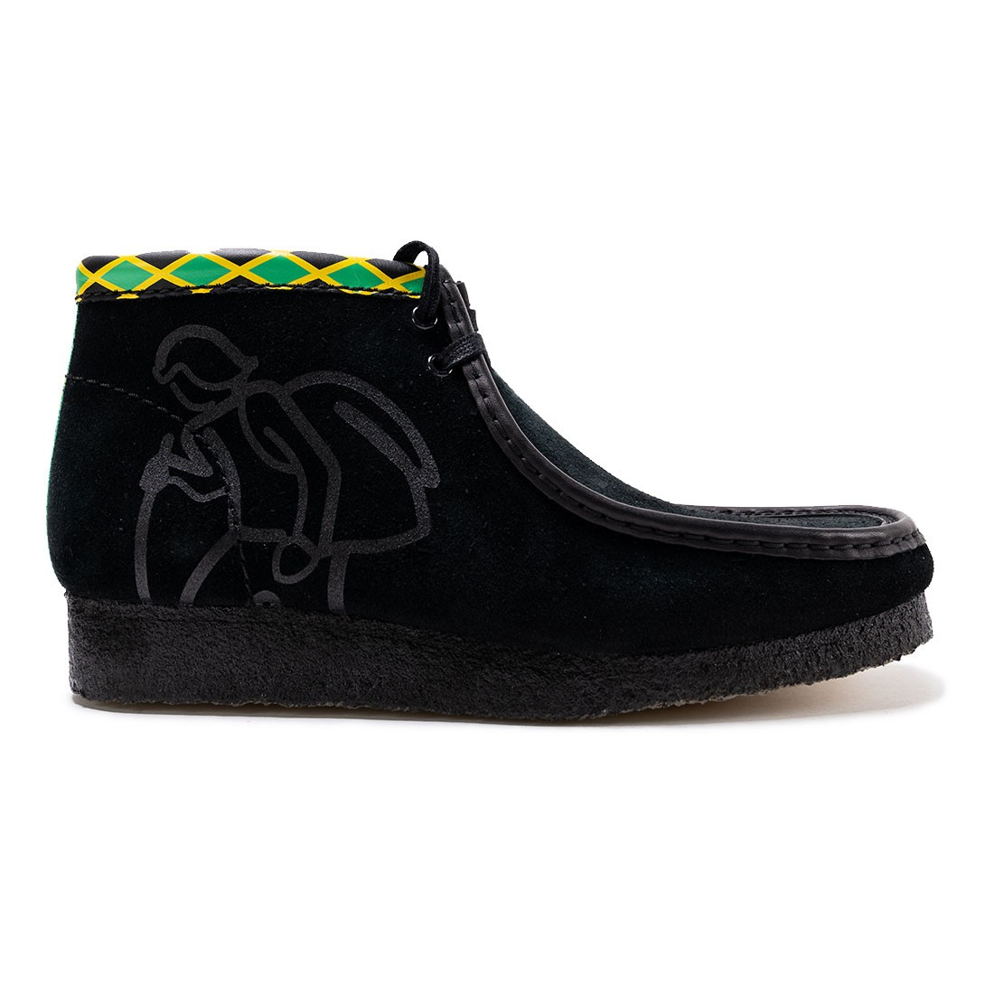 Clarks Men Wallabee - Jamaica (black / multi)