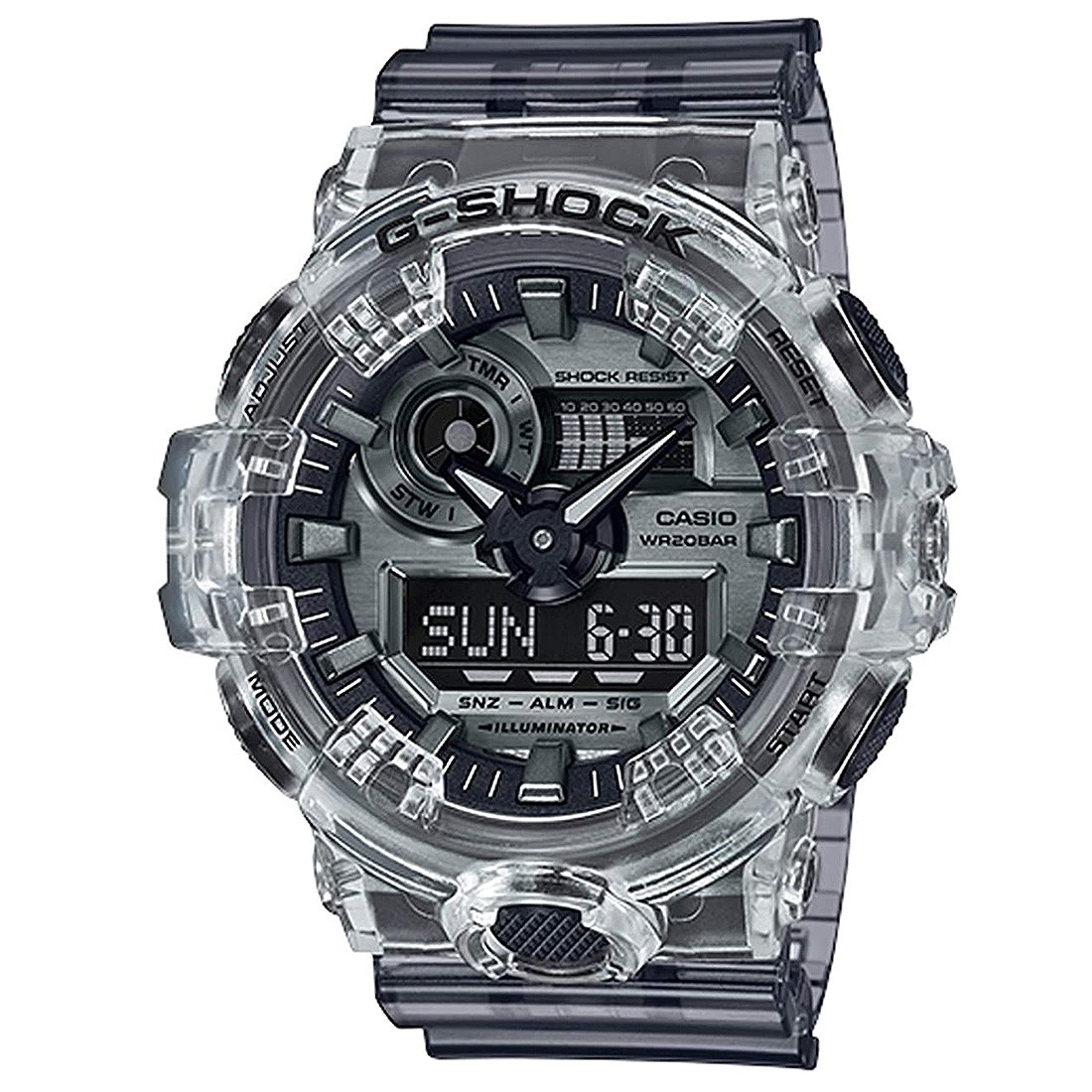 G-Shock Watches GA700SK-1A Watch (black / clear)