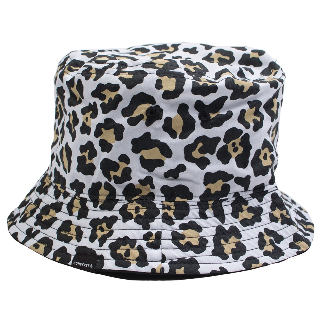 Converse Reversible Bucket Hat (black / leopard)