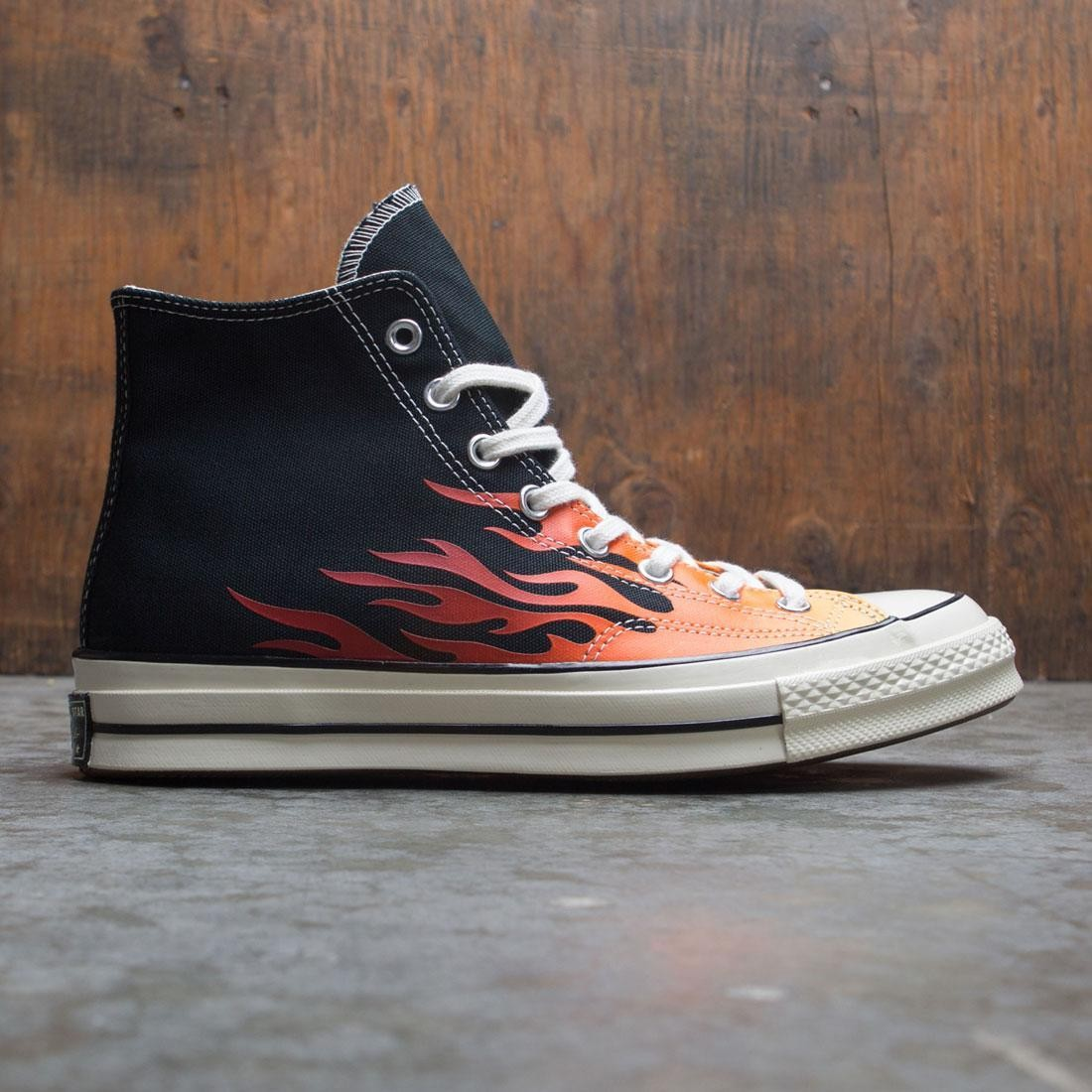 Converse Men Chuck 70 Archive Prints Remixed Hi (black / enamel red / bold mandarin)