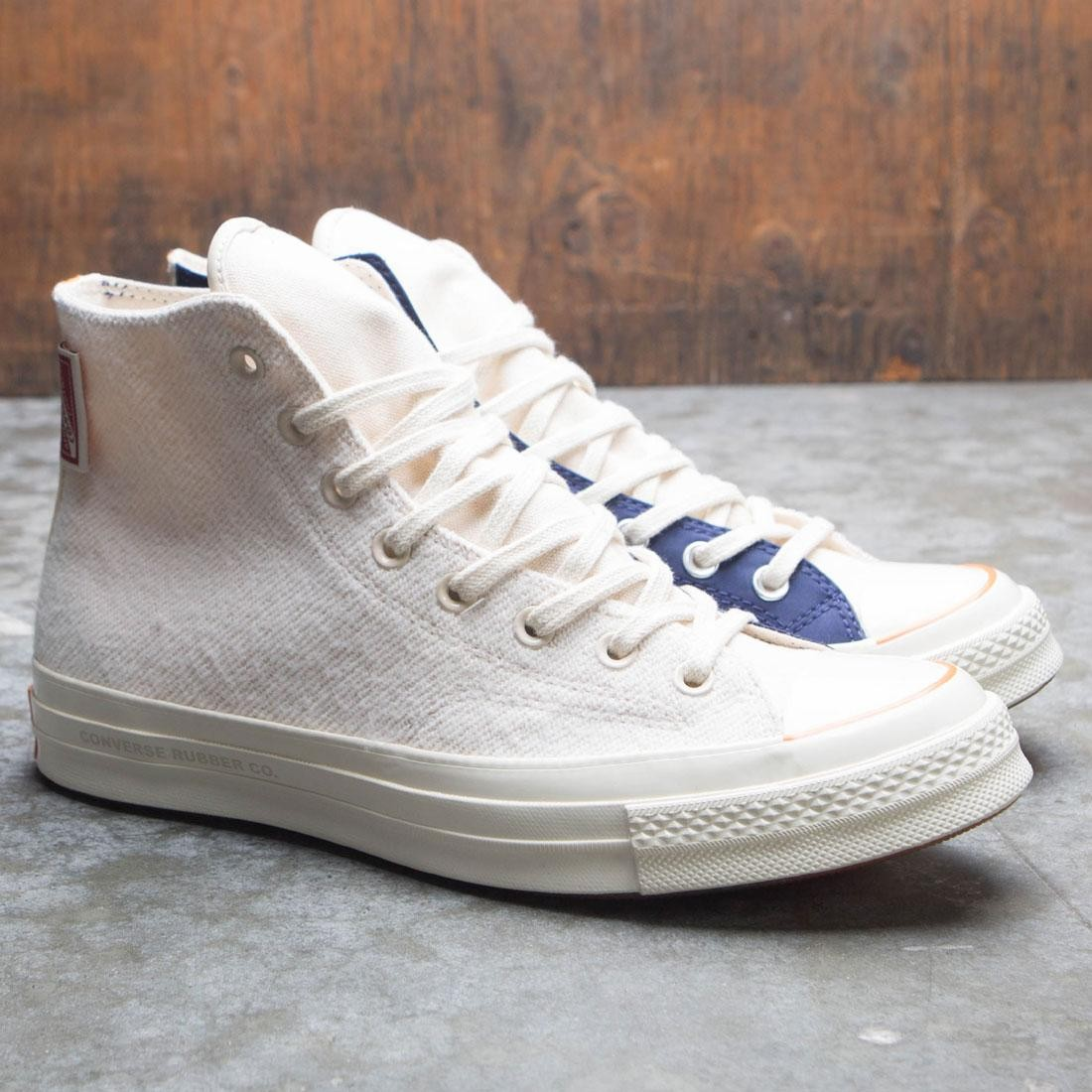 Converse x Foot Patrol Men Chuck 70 Hi Natural (white / ivory / blue)