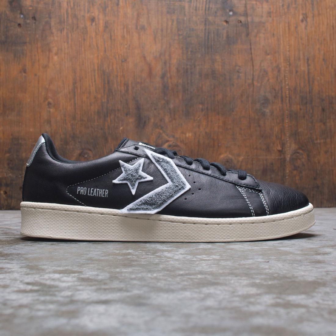 Converse Men Pro Leather Ox (black / silver / egret)
