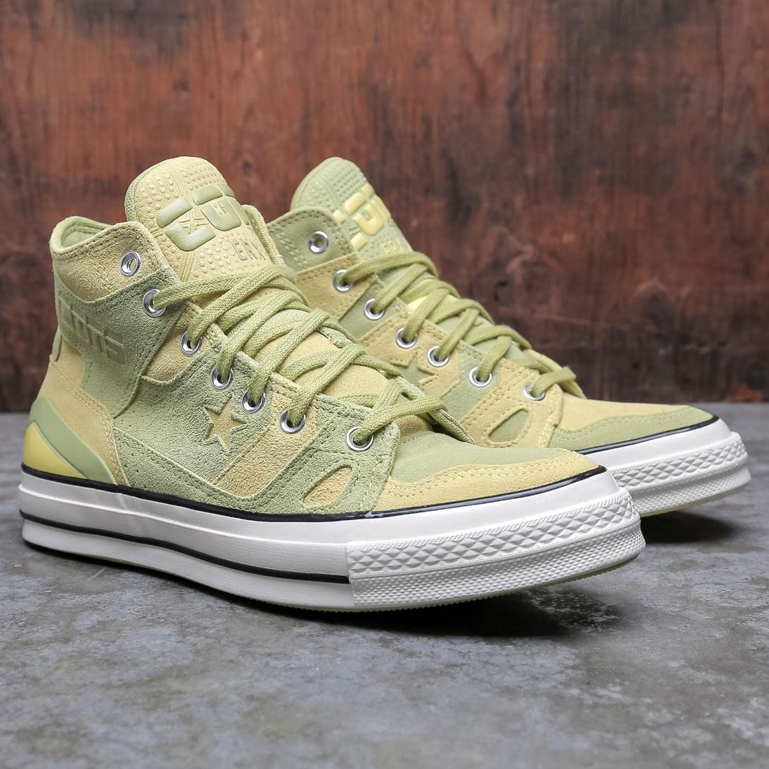 Converse Men Earth Tone Suede Chuck 70 E260 (yellow / green banana / limelight / egret)