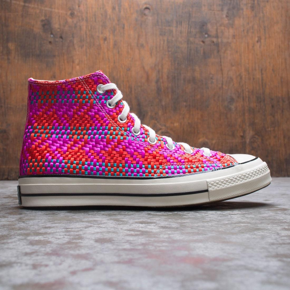 Converse Men Culture Weave Chuck 70 Hi (red / cherry red / pink pop / egret)