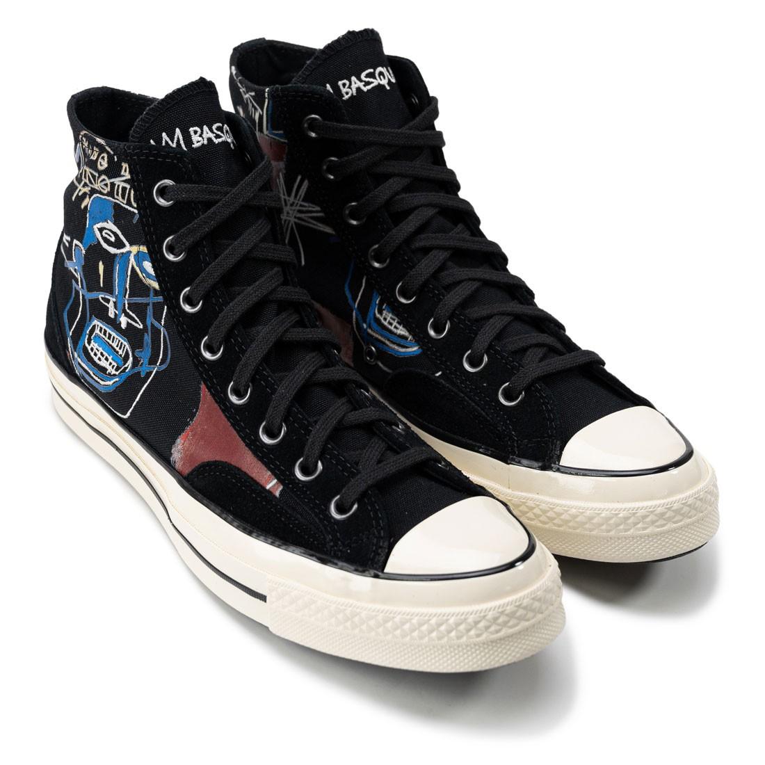 Converse x Jean-Michel Basquiat Men Kings Of Egpyt III Chuck 70 Hi (black / multi / egret)