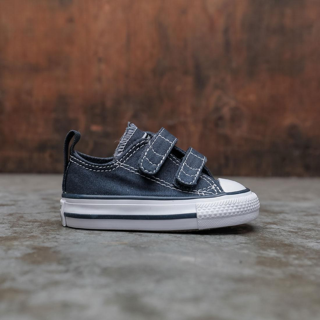 Converse Little Kids Chuck Taylor All Star Hook And Loop Ox (navy / white)