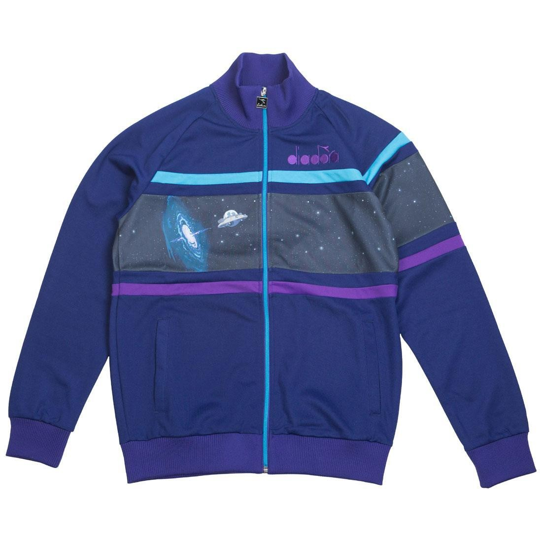 Diadora x Rick And Morty Men Intergalactic Track Jacket (blue / ming blue)