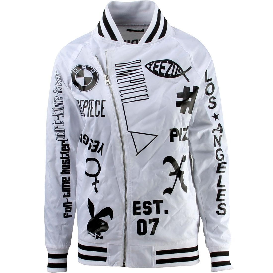 Dimepiece Women Verbage Varsity Jacket (white)