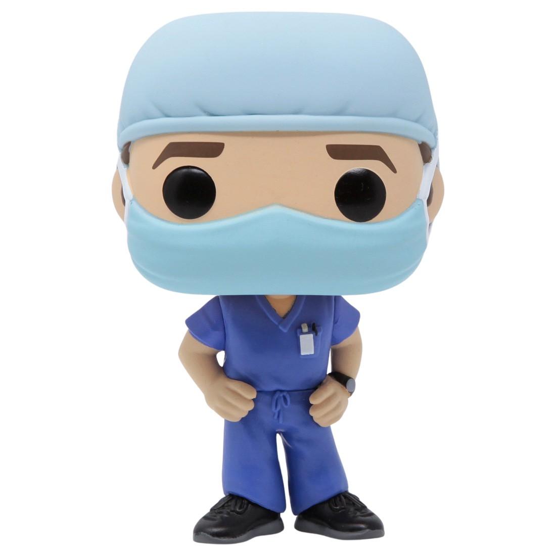 Funko POP Heroes Front Line Worker Male Hospital Worker #1 (blue)