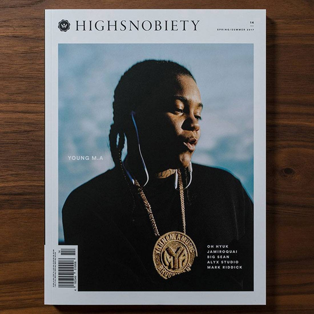 Highsnobiety Magazine Issue 14 - Young MA (white / print)