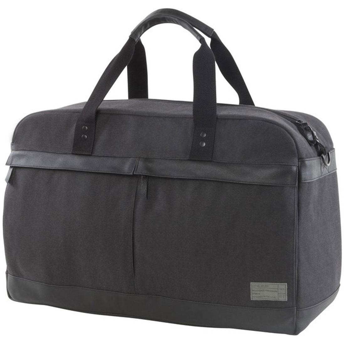 Hex Weekender Canvas Travel Duffle (gray / charcoal)