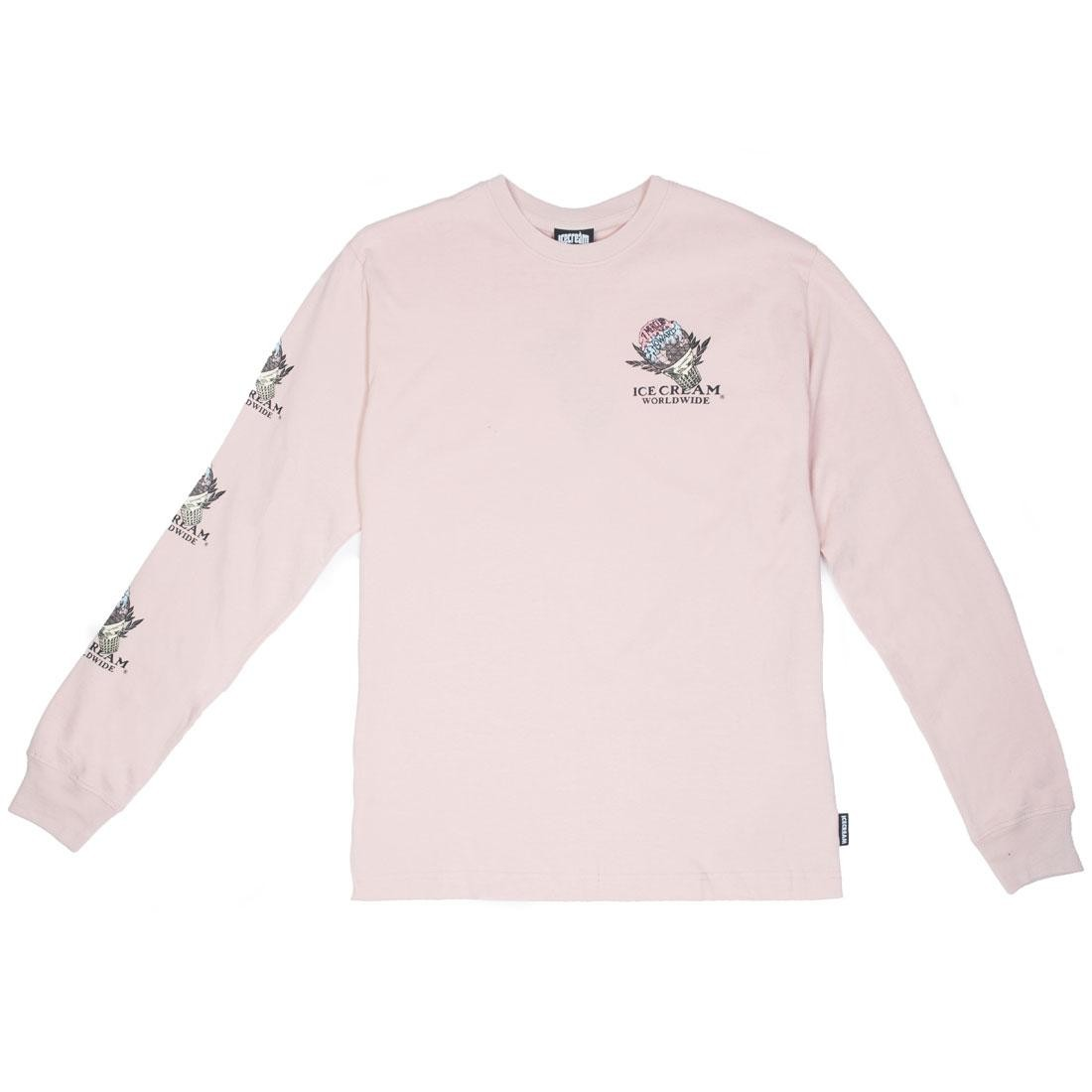 Ice Cream Men Giving Long Sleeve Tee (pink / rose)