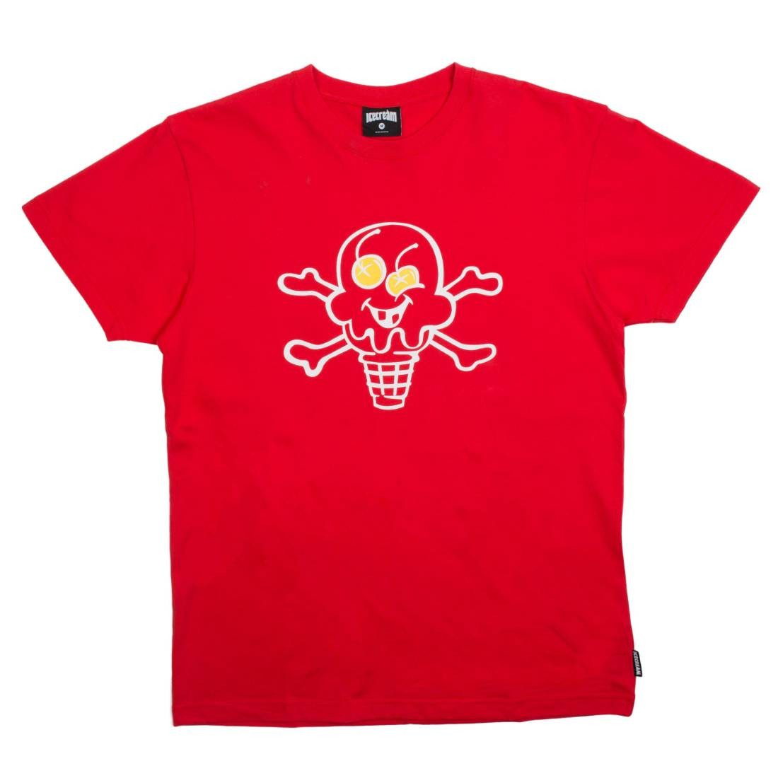 Ice Cream Men Cone And Bones Tee (red / tomato)