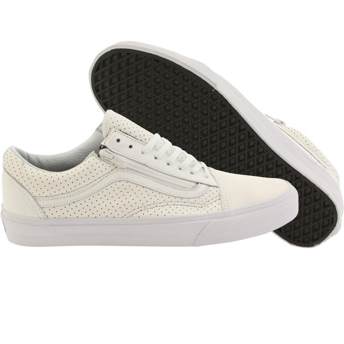 cda788374e57 Vans Men Old Skool Zip - Perf Leather white true white