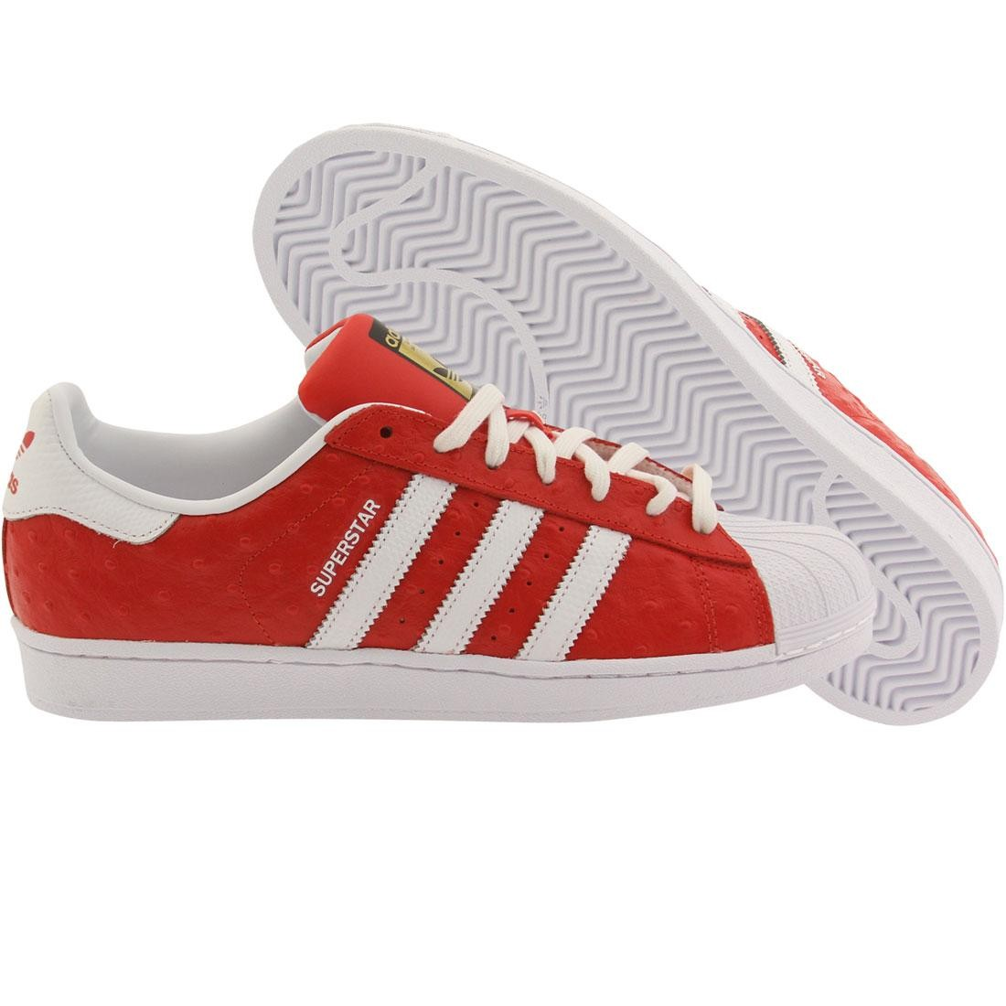 the latest 7c5a4 a777e Adidas Men Superstar Animal red footwear white gold metallic