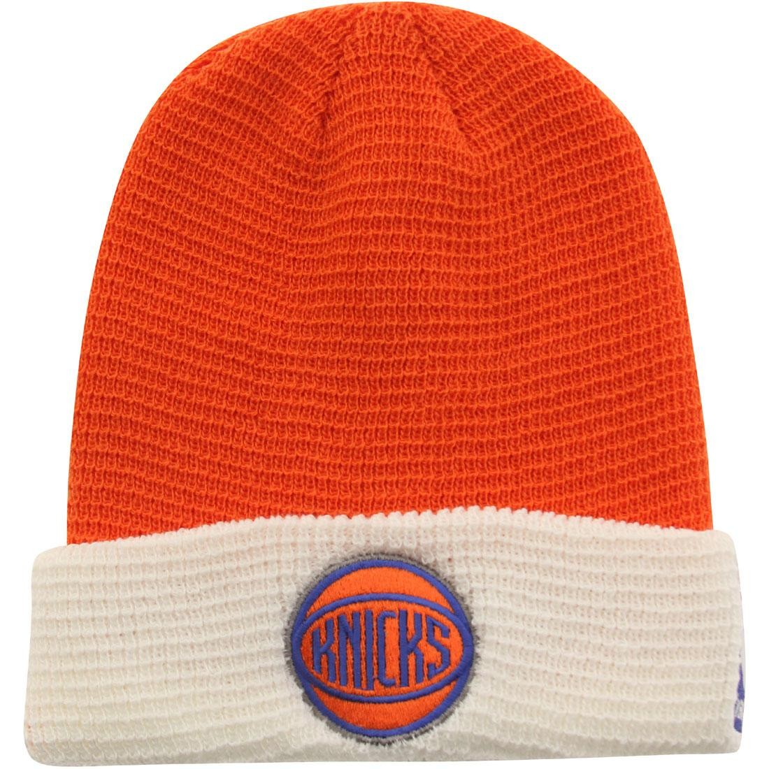 Adidas NBA New York Knicks Team Cuffed Knit Beanie (orange / white)