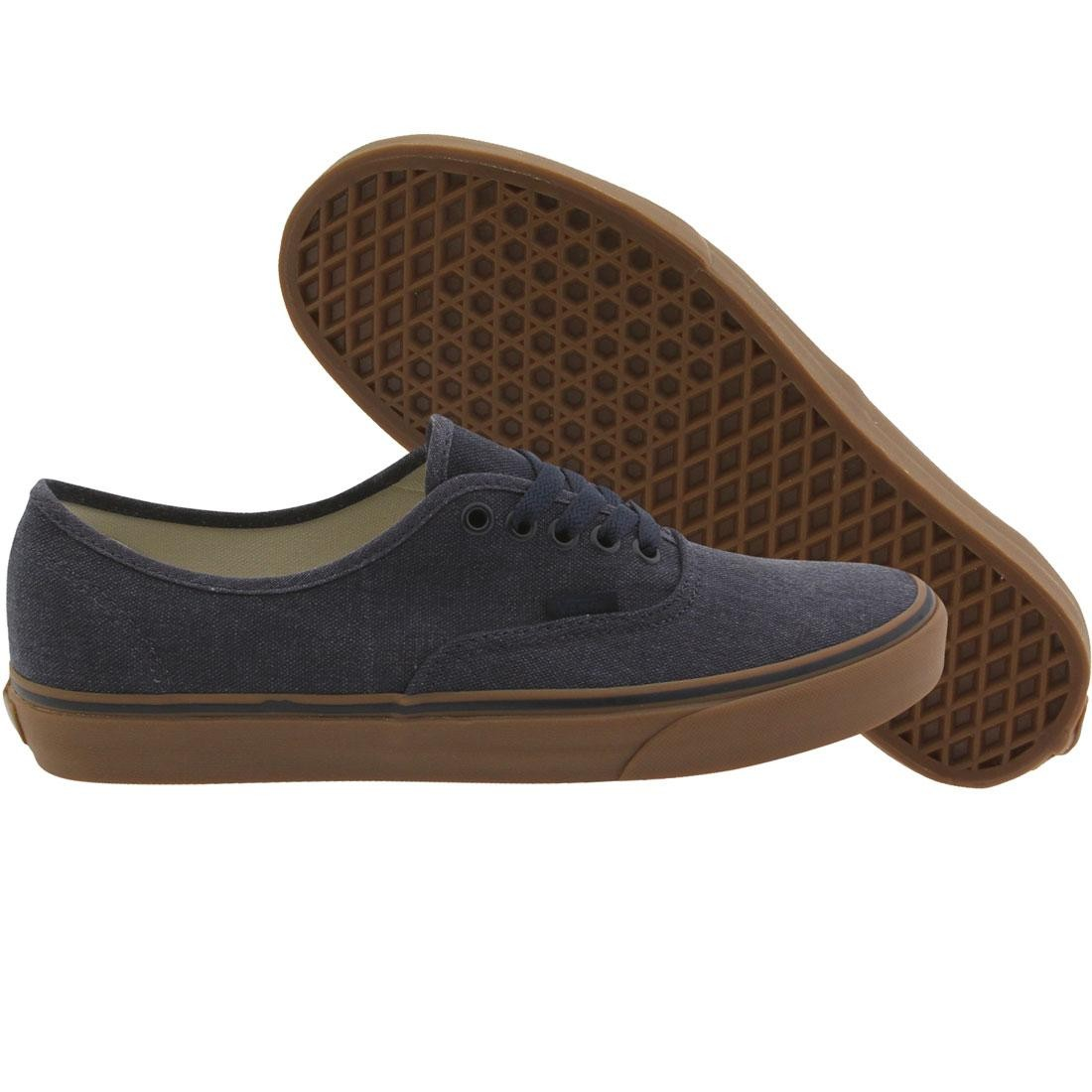b0a6365f1f Vans Men Authentic - Washed Canvas blue dress gum