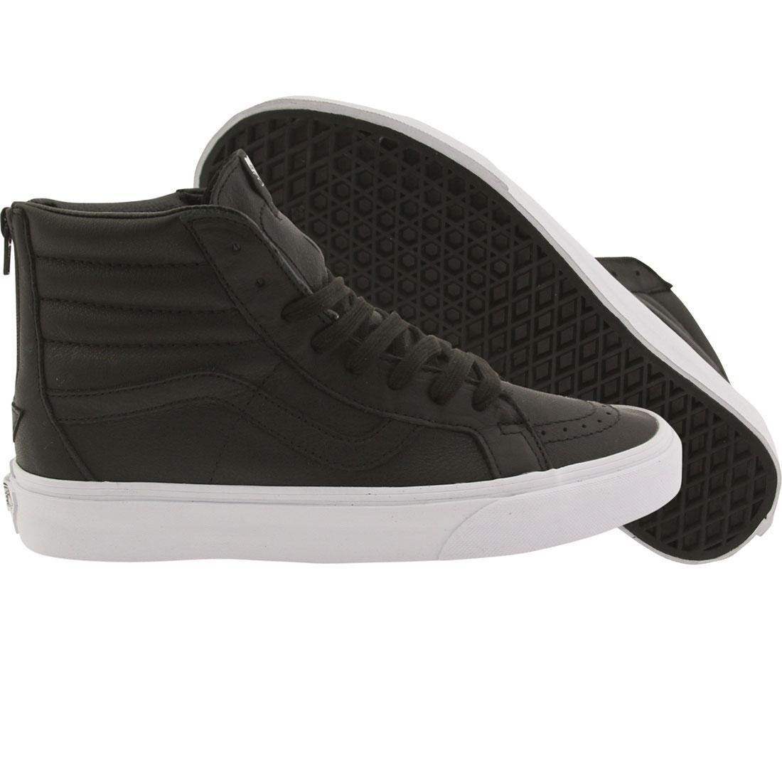 97c2feeef2a9 Vans Men Sk8-Hi Reissue - Premium Leather black white