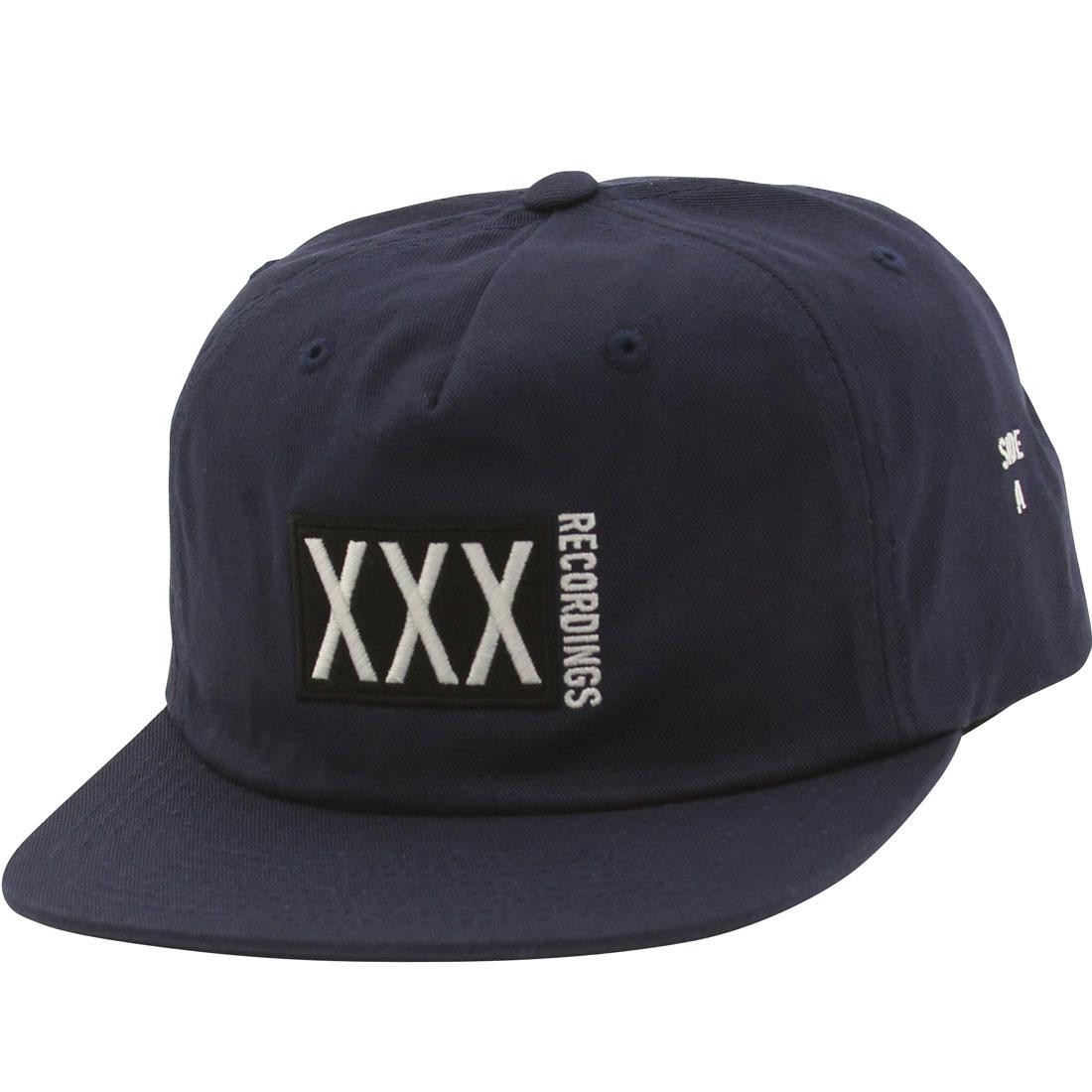 10 Deep Triple X Records Snapback Cap (navy)