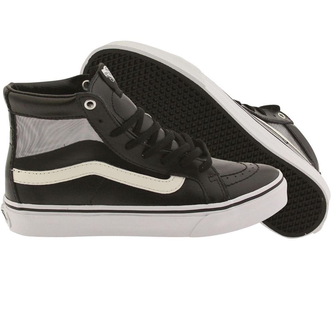 0dadb9e02f5 Vans Women SK8-Hi Slim Cutout - Mesh black white