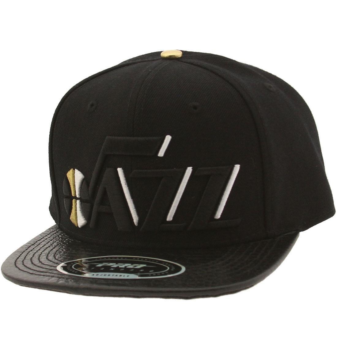 Pro Standard NBA Utah Jazz Wordmark Logo Adjustable Cap (black)