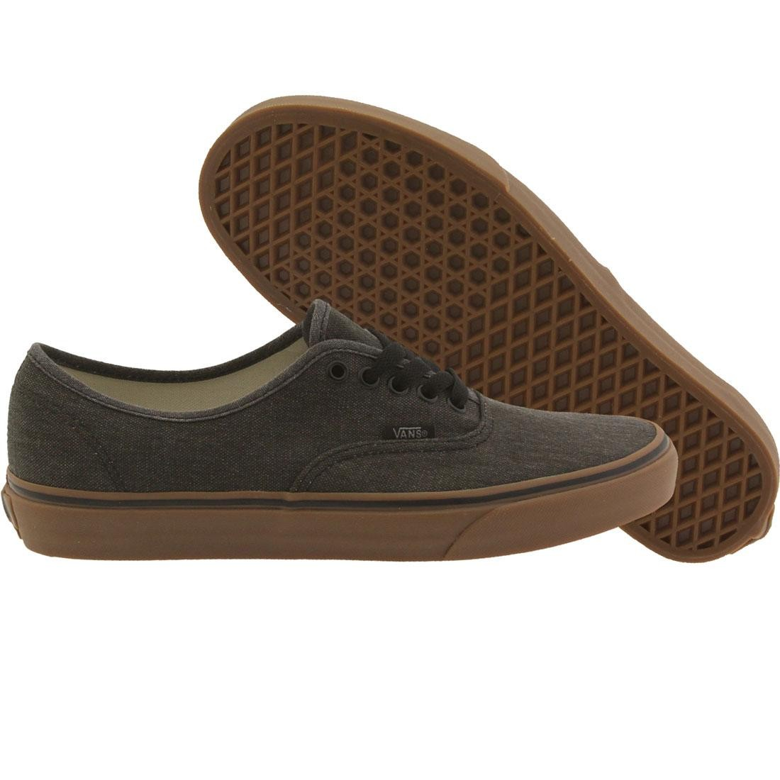 6d49b569891f Vans Men Authentic - Washed Canvas black gum
