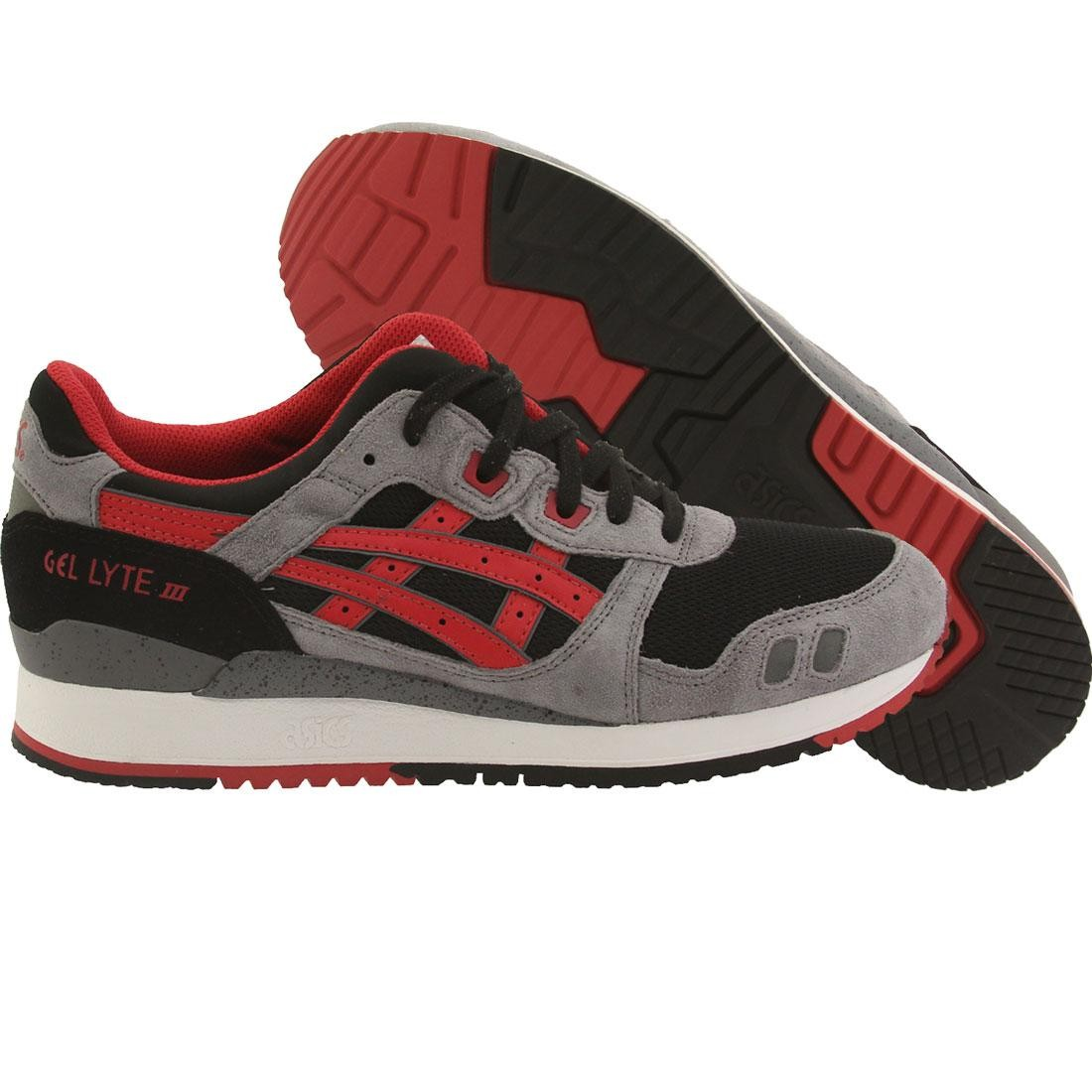 detailed look cf6f7 07eca Asics Tiger Men Gel Lyte III (black / classic red)
