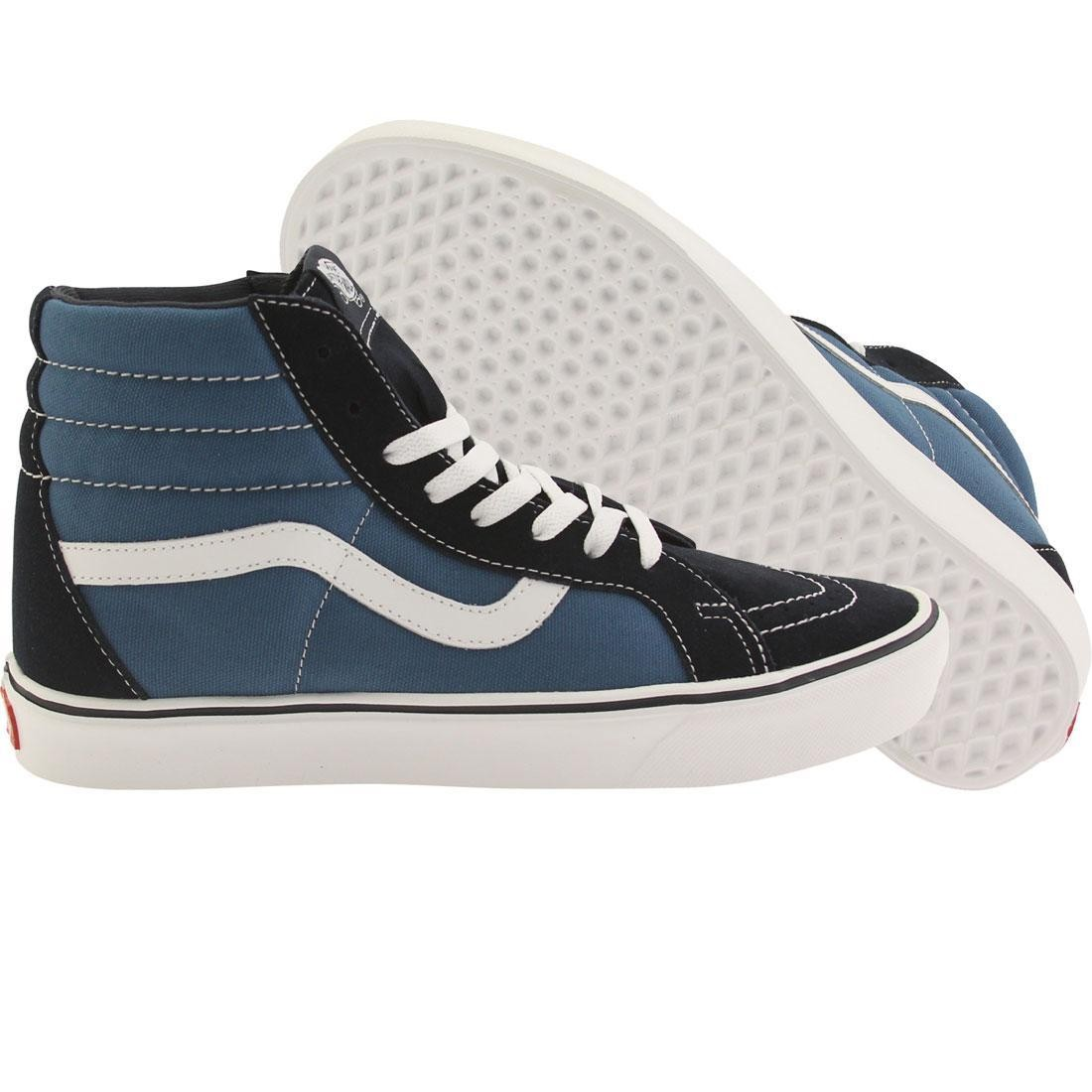 a42ca3280c Vans Men Sk8-Hi Lite + Suede Canvas navy white