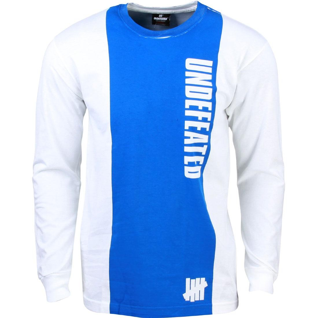 Undefeated Men U Jax Long Sleeve Tee (white / blue)