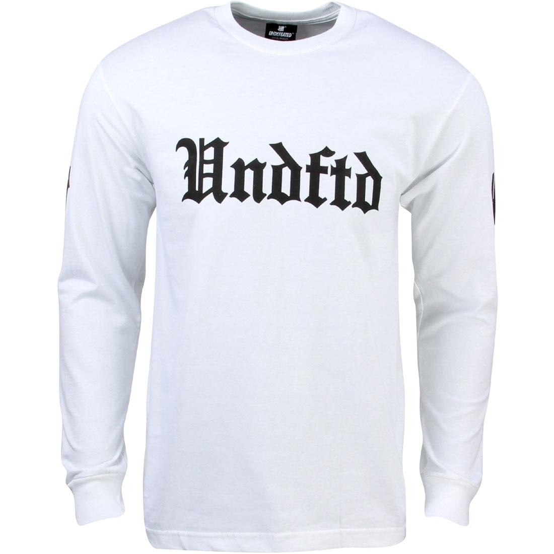Undefeated Men Soccer 15 Long Sleeve Tee (white)
