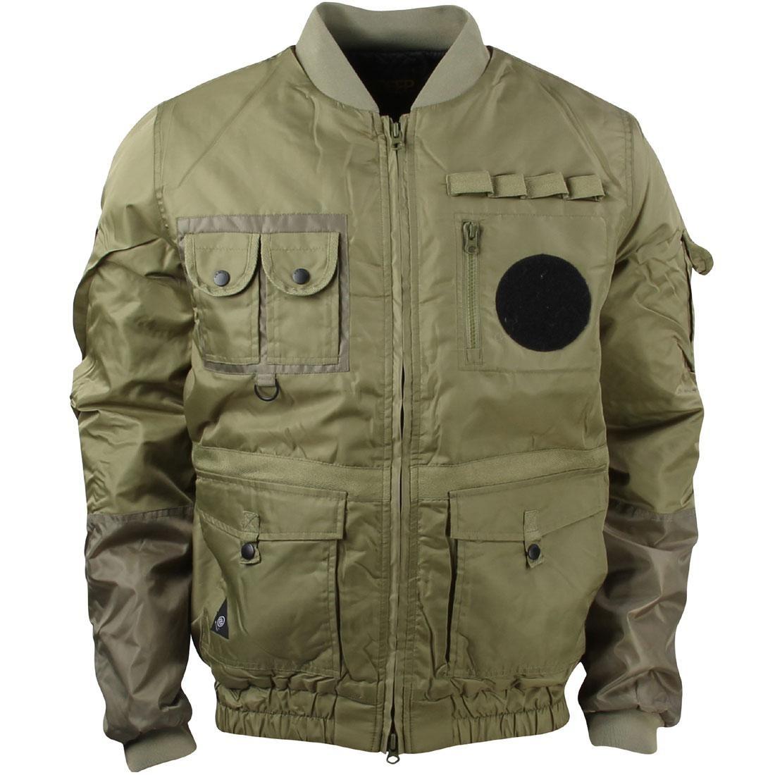 10 Deep Men Technician Aviator Jacket (green / army)