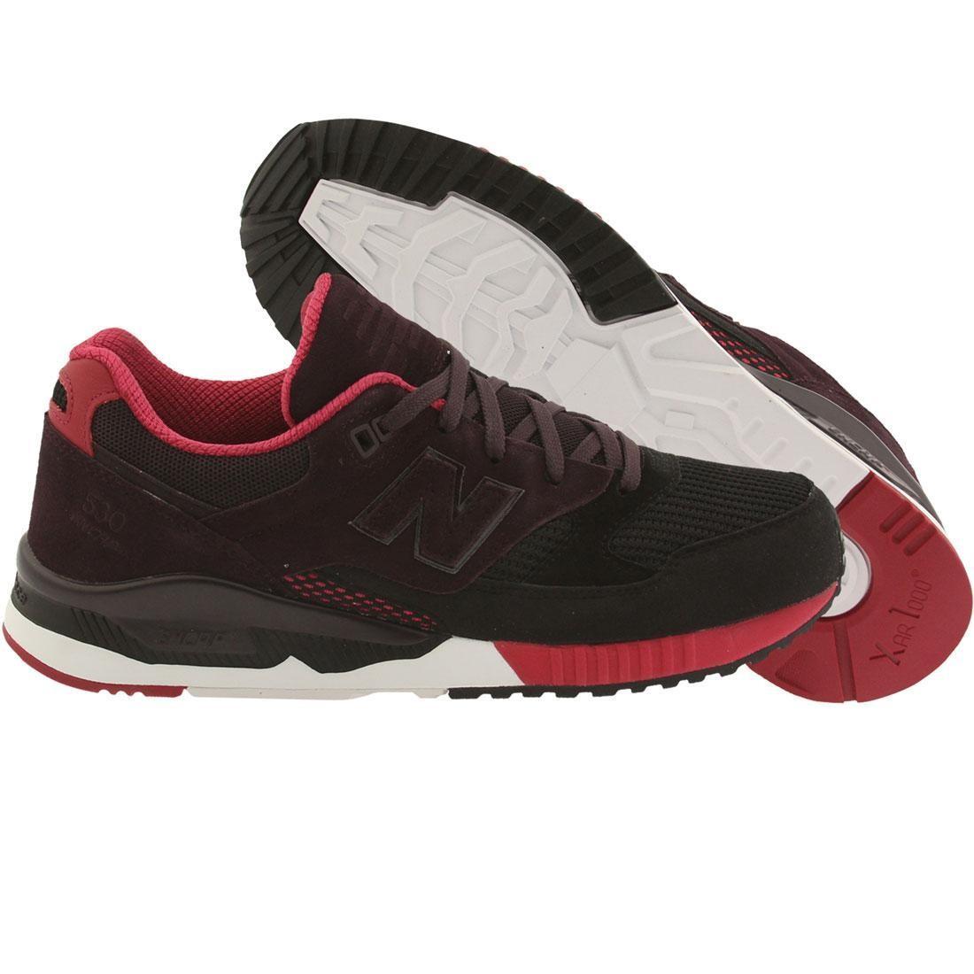 taille 40 0b765 15d59 New Balance Men 530 Bionic Boom M530RTA (black / blackberry / red)