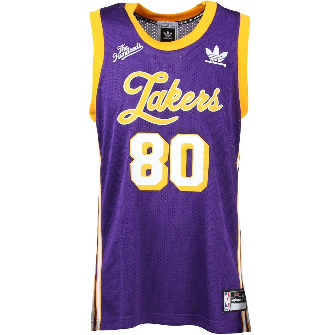 separation shoes edf3f 697f5 Adidas Skate x The Hundreds Men LA Lakers Jersey (purple / gold)