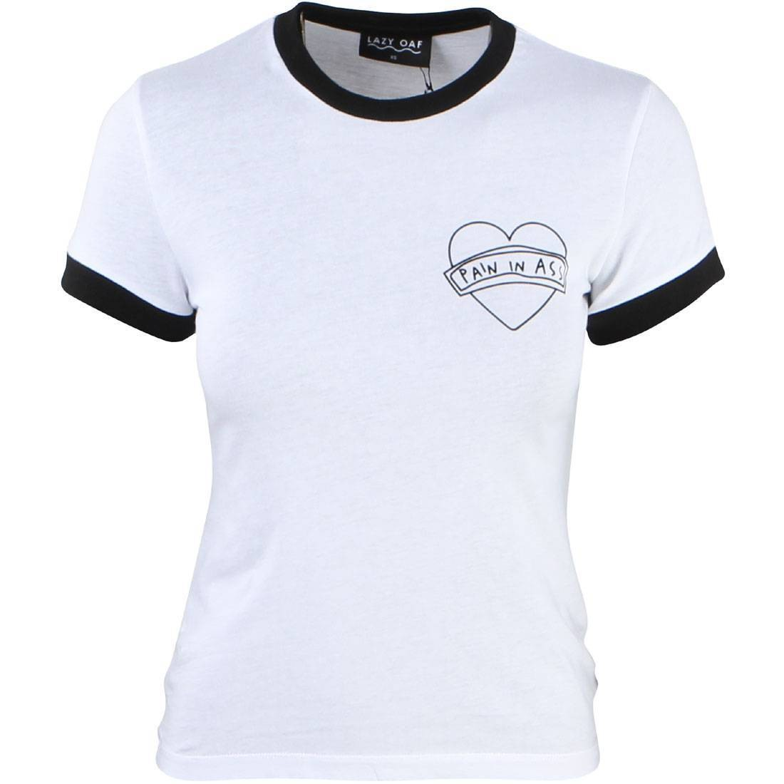 Lazy Oaf Women Pain In Ass Tee (white)