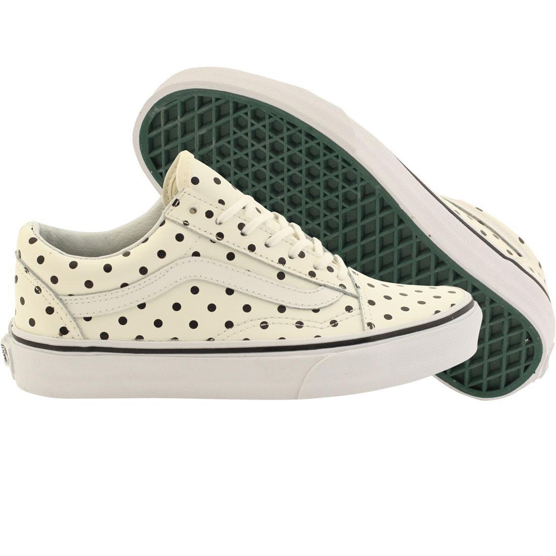 946b02ac9410d2 Vans Women Old Skool - Leather Polka Dots white