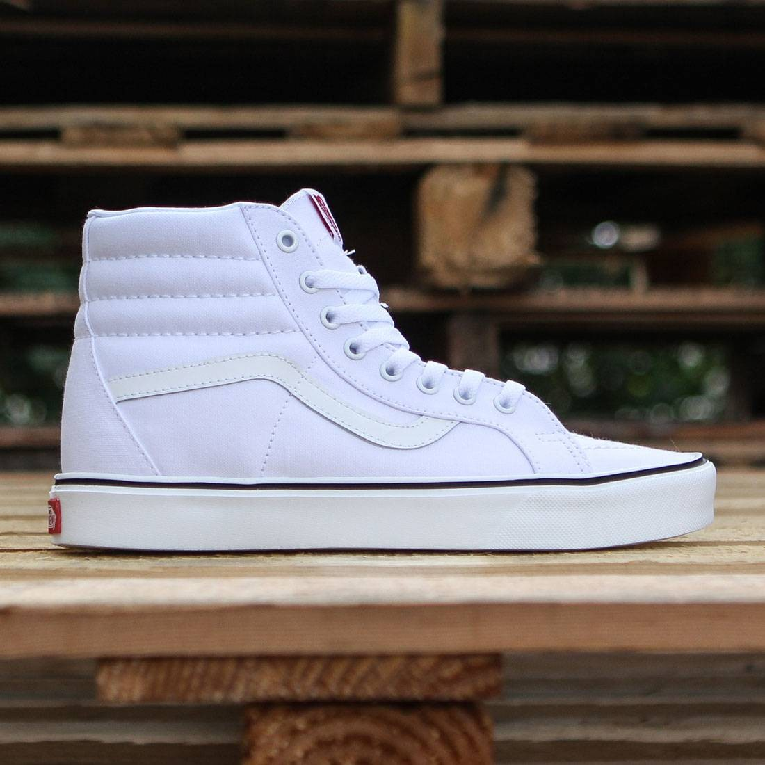 deef200e80b5 Vans Men Sk8-Hi Lite Plus - Canvas white true white