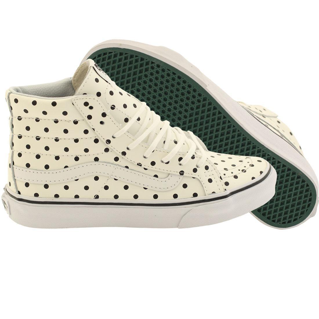 Vans Women Sk8-Hi Slim - Leather Polka Dots (white)